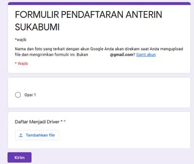 Cara Daftar Anterin Sukabumi