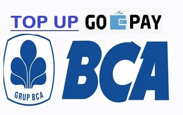 cara top up gopay bca
