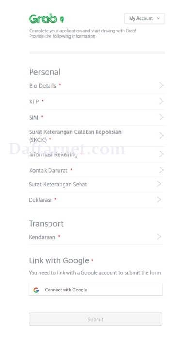 Alamat Dan Cara Daftar Grab Ketapang Online Dan Offline