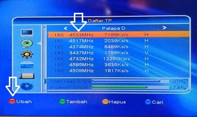 memasukan Frekuensi Trans Tv Trans7 Net Tv Dan Antv